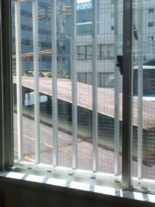会社2階の窓から見える景色